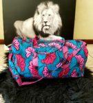 ankara print duffel bag