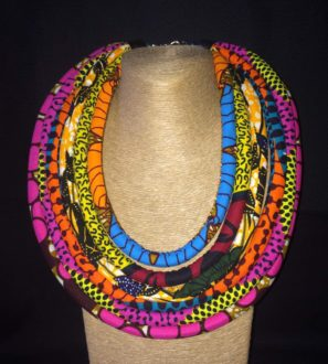 Ankara Print 6 Strand Necklace