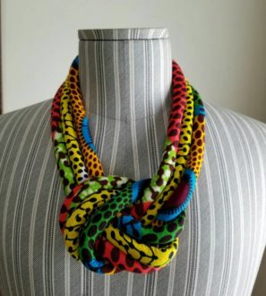 Nsubura print necklace