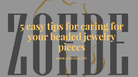 Beaded jewelry care